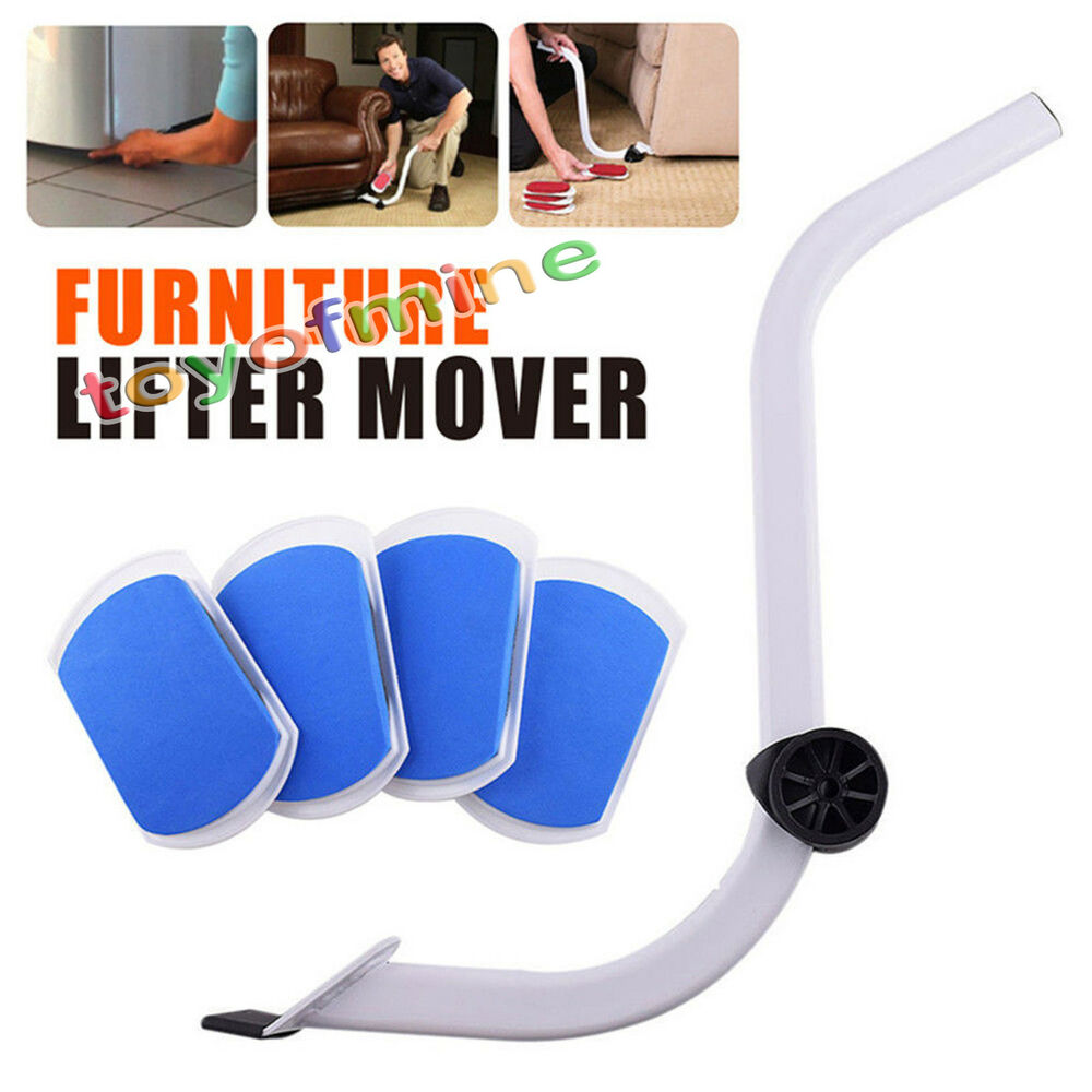 Heavy Furniture Moving System Lifter Tool With 4 Slide Glider Pad Sofa Easy Move Ebay