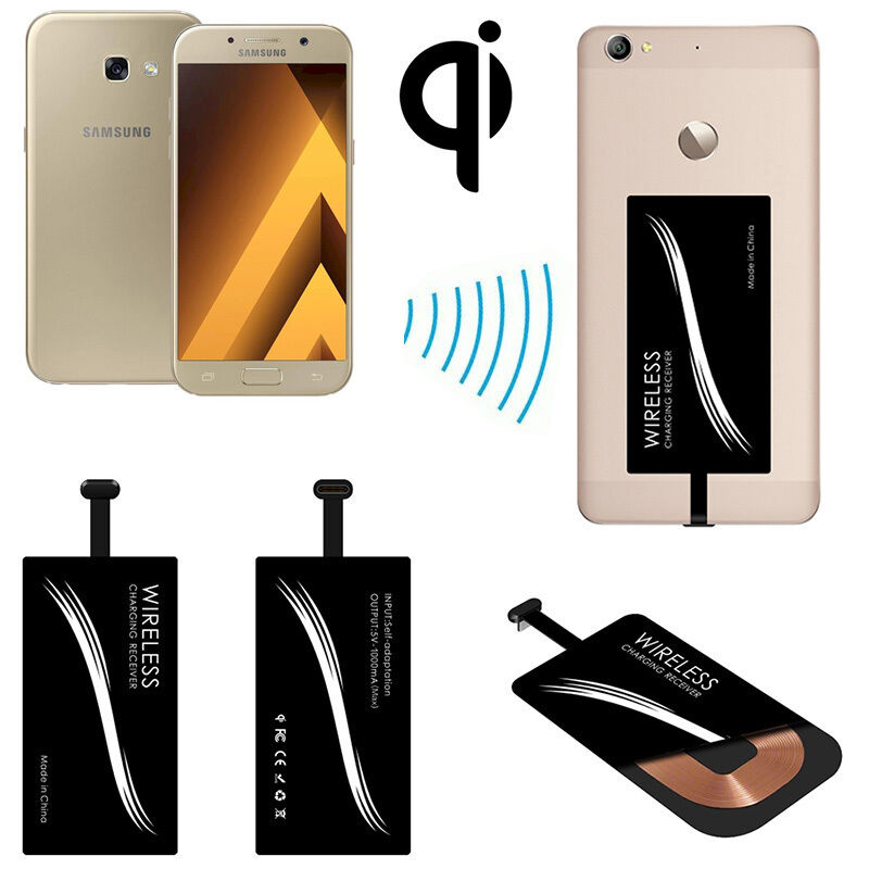 QI Wireless Charging Pad/USB Type-C Receiver For Samsung ...
