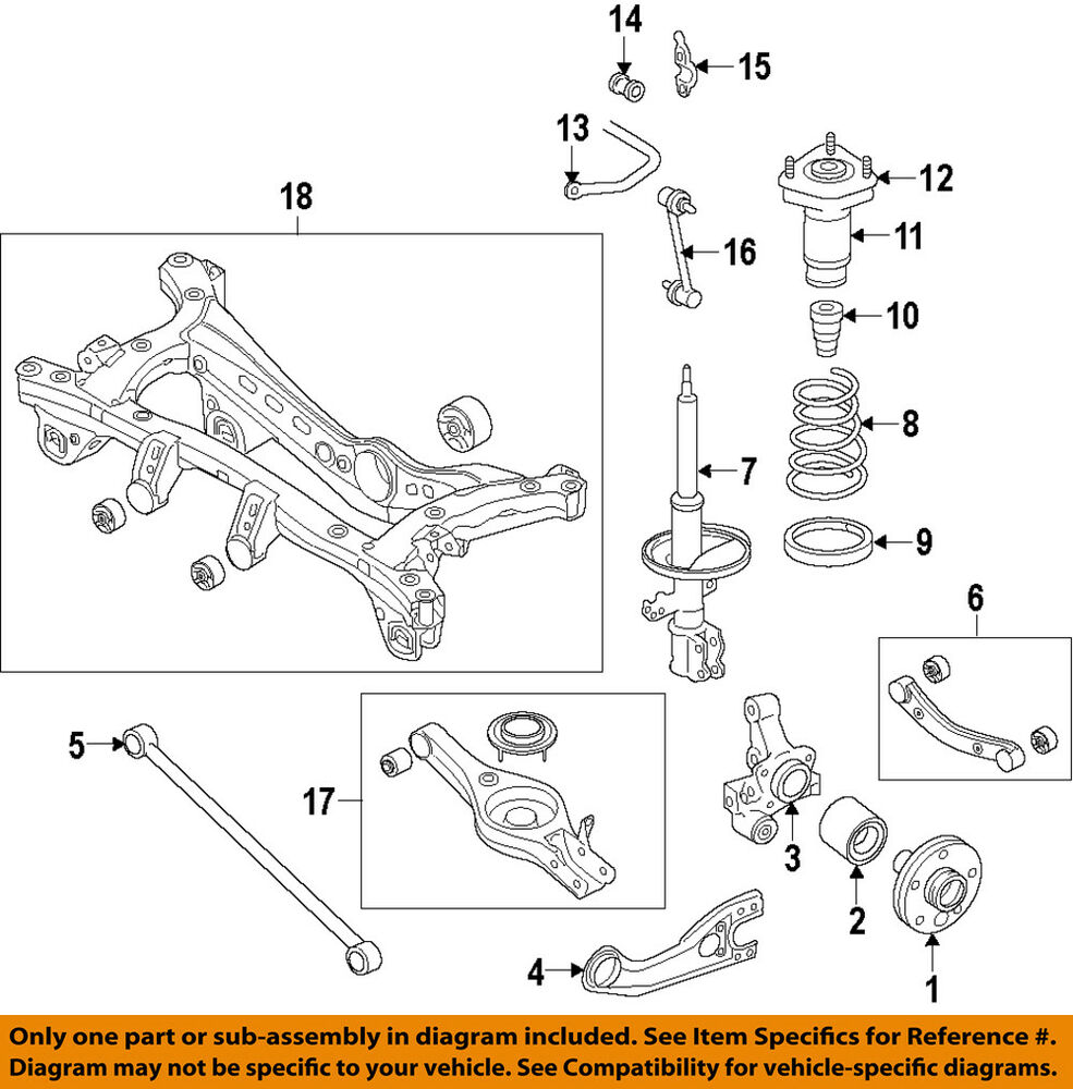 2008 Kia Parts Diagram Quick Start Guide Of Wiring Sedona Oem 11 15 Optima Rear Wheel Hub Bearing Assy 527303s200 Ebay