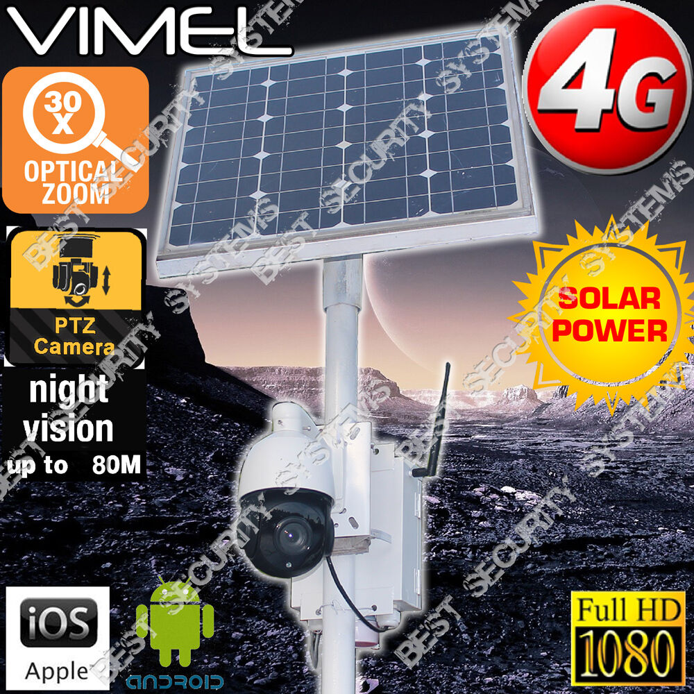 4g Wireless Security Camera 30x 120g 1080p Zoom Solar Farm