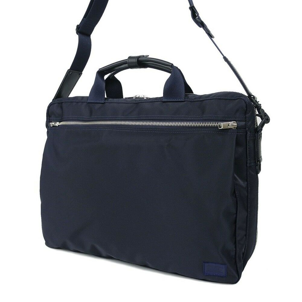 Details about NEW YOSHIDA PORTER LIFT 2WAY BRIEF CASE 822-06225 Navy With  tracking From Japan d496a2d63631c