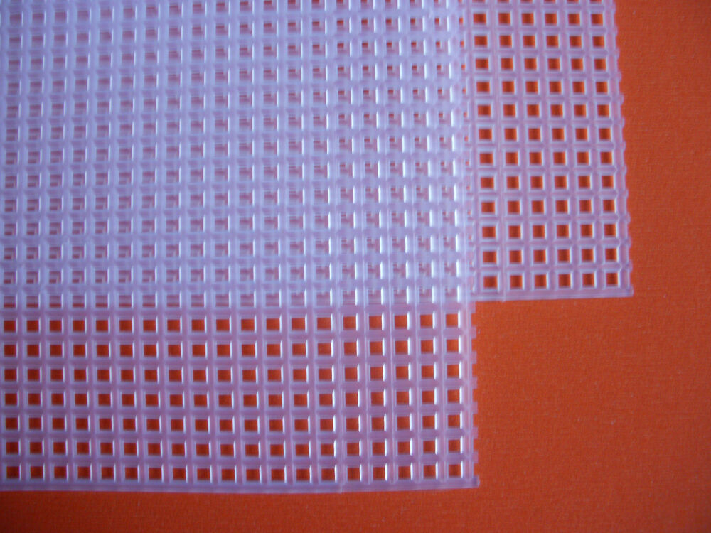 2 sheets of plastic canvas mesh 7 count each piece 26 for Plastic grid sheets crafts