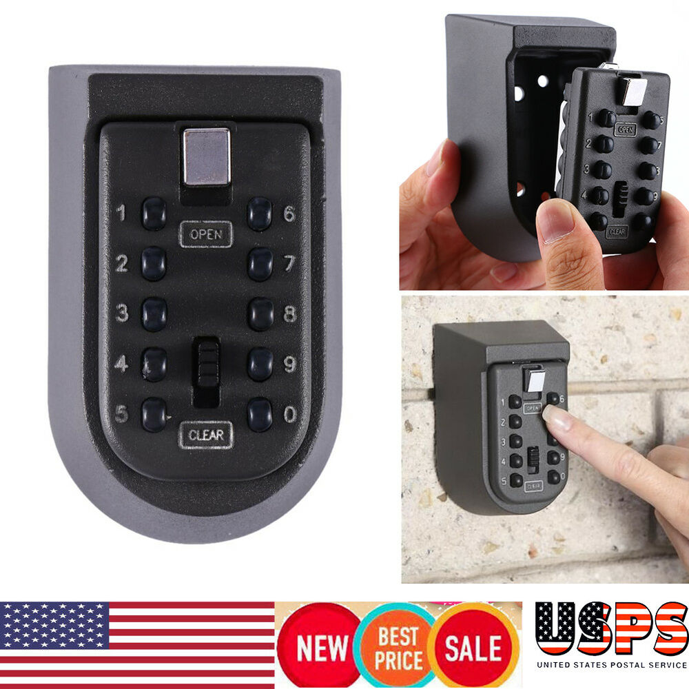 Outdoor Combination Key Safe Storage Box Wall Mount Home