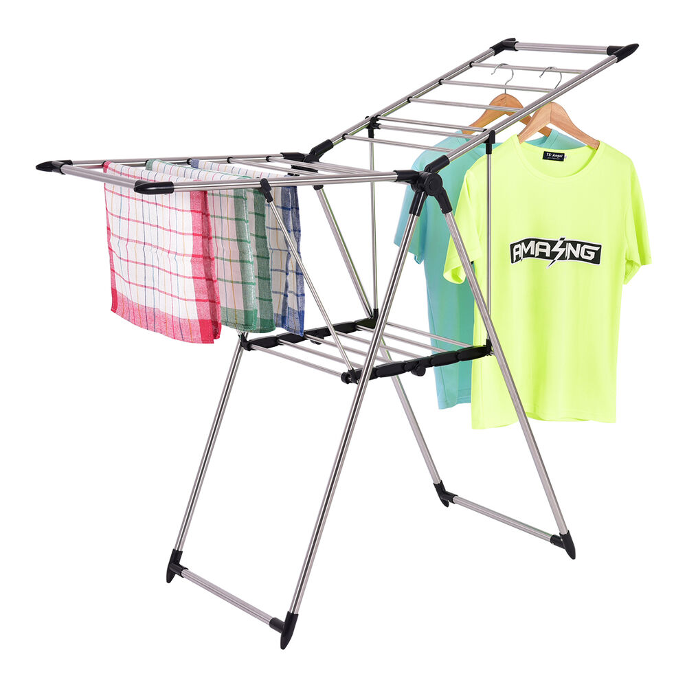portable laundry clothes storage drying rack folding heavy duty dryer hanger new ebay. Black Bedroom Furniture Sets. Home Design Ideas