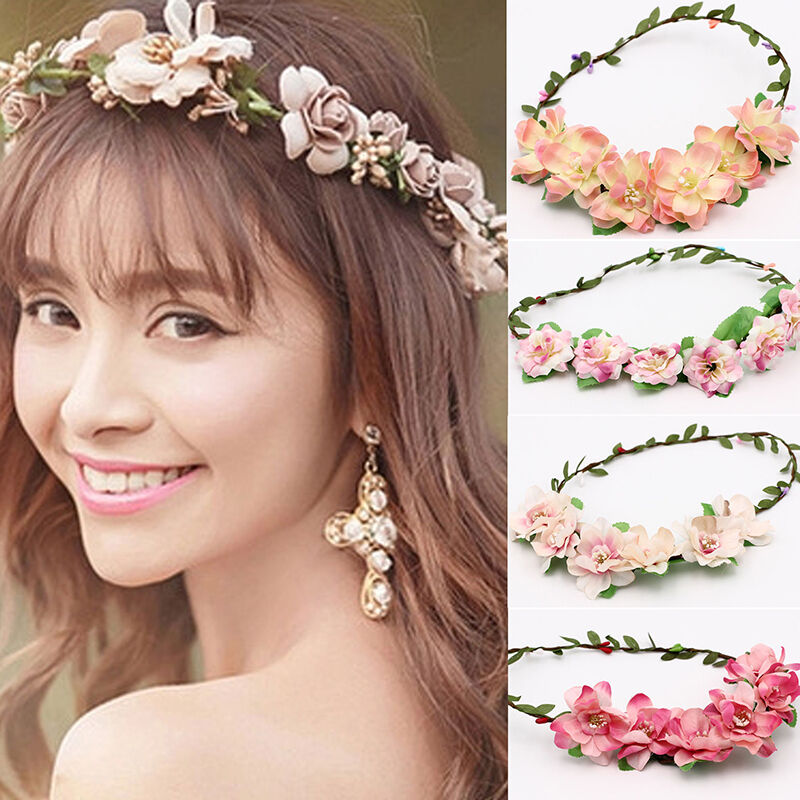 Flower Wedding Headpieces: 1X Multi Flower Girl Lady Bridal Headpiece Floral Head