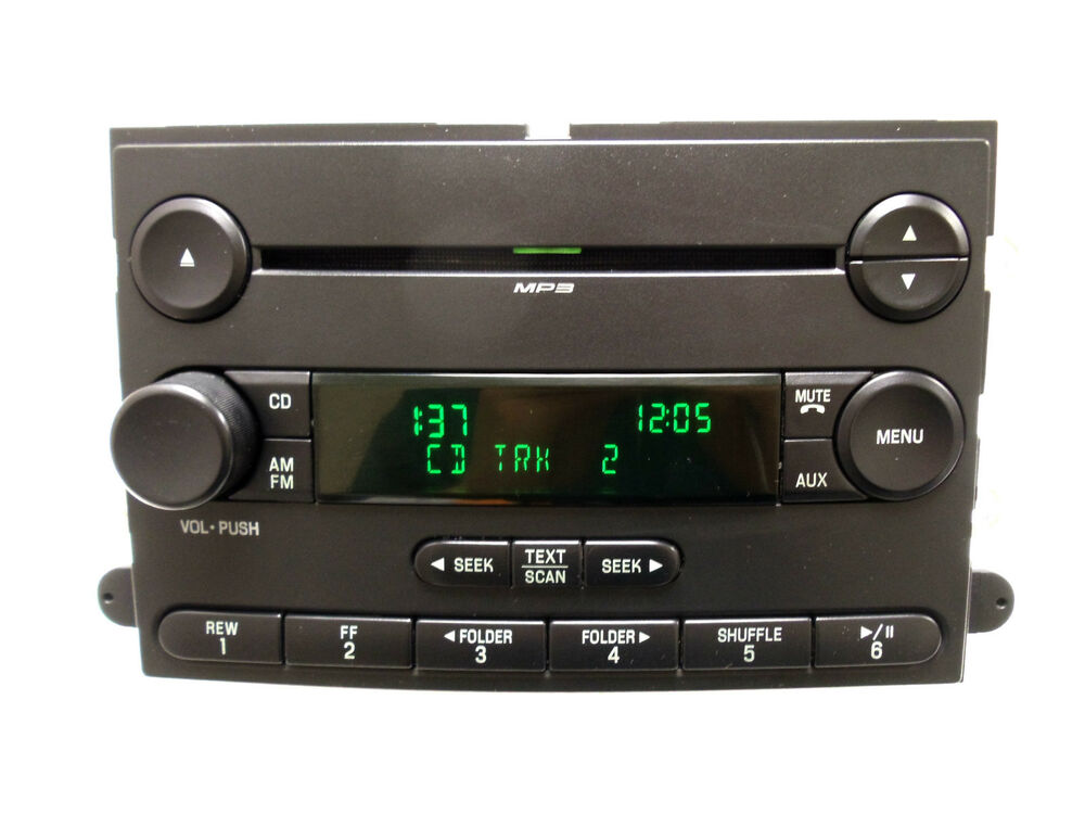 07 08 ford f 150 f150 truck radio stereo mp3 cd player aux 7l3t 18c869 bj oem ebay. Black Bedroom Furniture Sets. Home Design Ideas