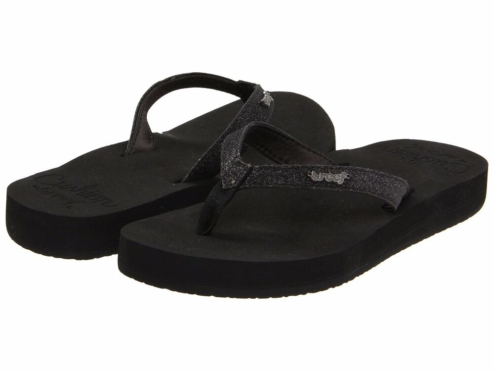 8fdf145bf5ee7c Details about Women s Shoes Reef Star Cushion Casual Flip Flop Sandals  RF001392 Black  New