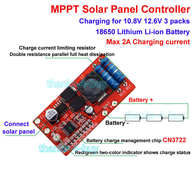 3s Lithium Battery Charging Charger Module Mppt Solar