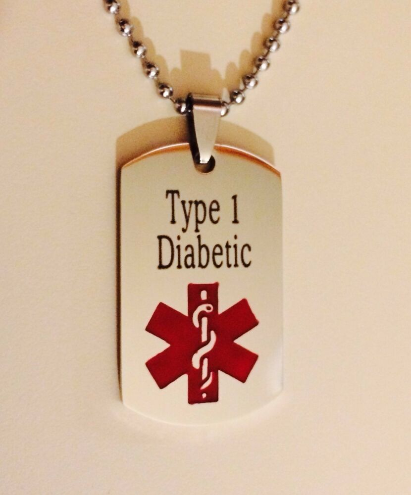 Medic Alert Necklace: Personalized Stainless Steel Medical ID Alert Necklace