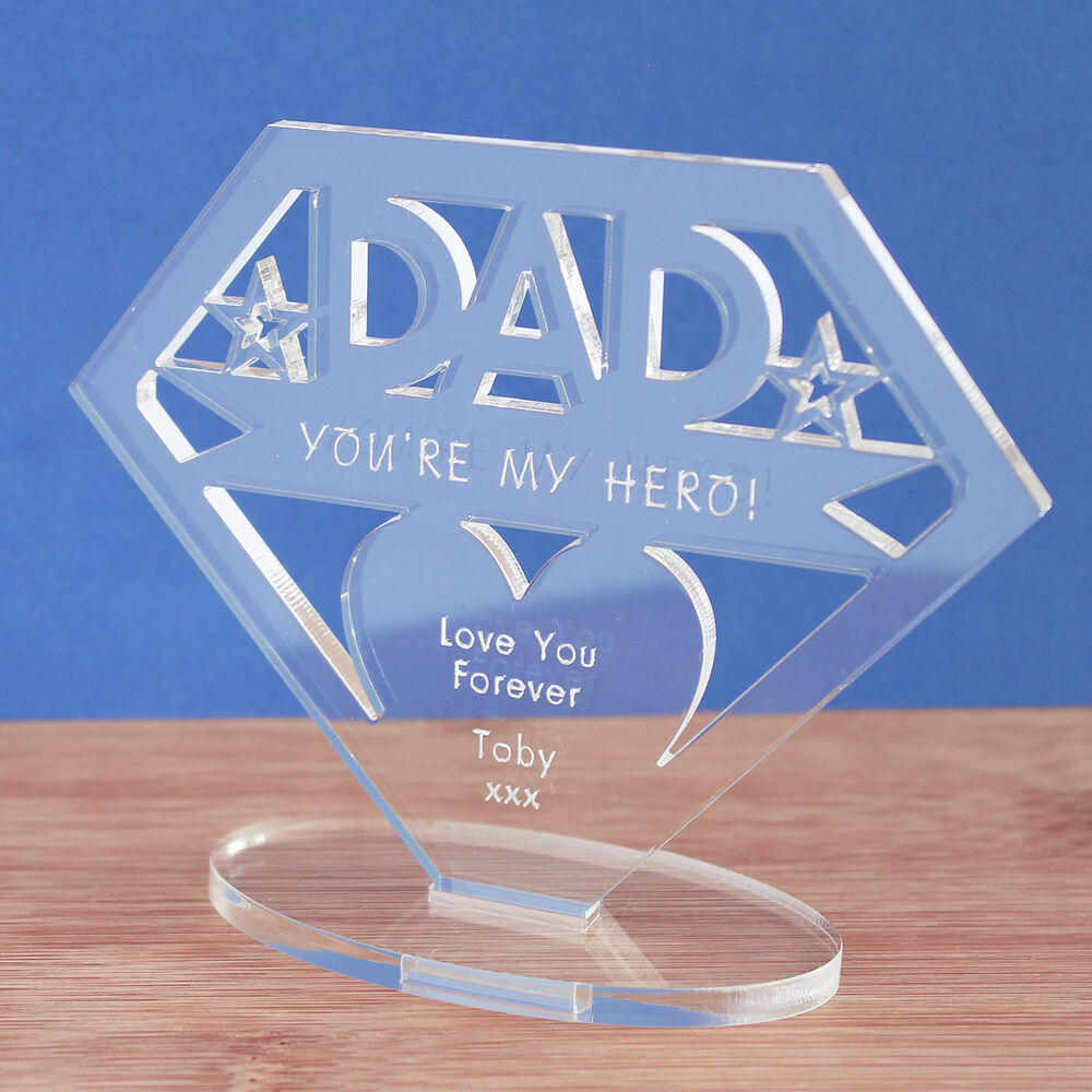 Details About Personalised MUM Or DAD Your My Hero Keepsake Christmas Birthday Gift Idea