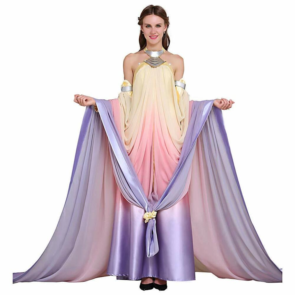 PREORDER Padme Rainbow Lake Dress Queen Amidala Costume Cosplay XS ...