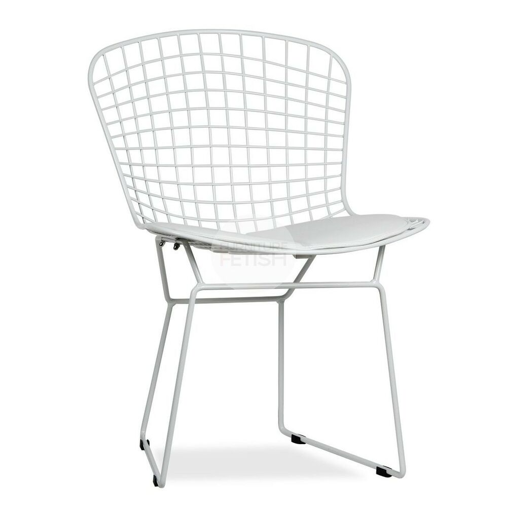 Details about harry bertoia wire chair white furniture fetish free pickup gold coast