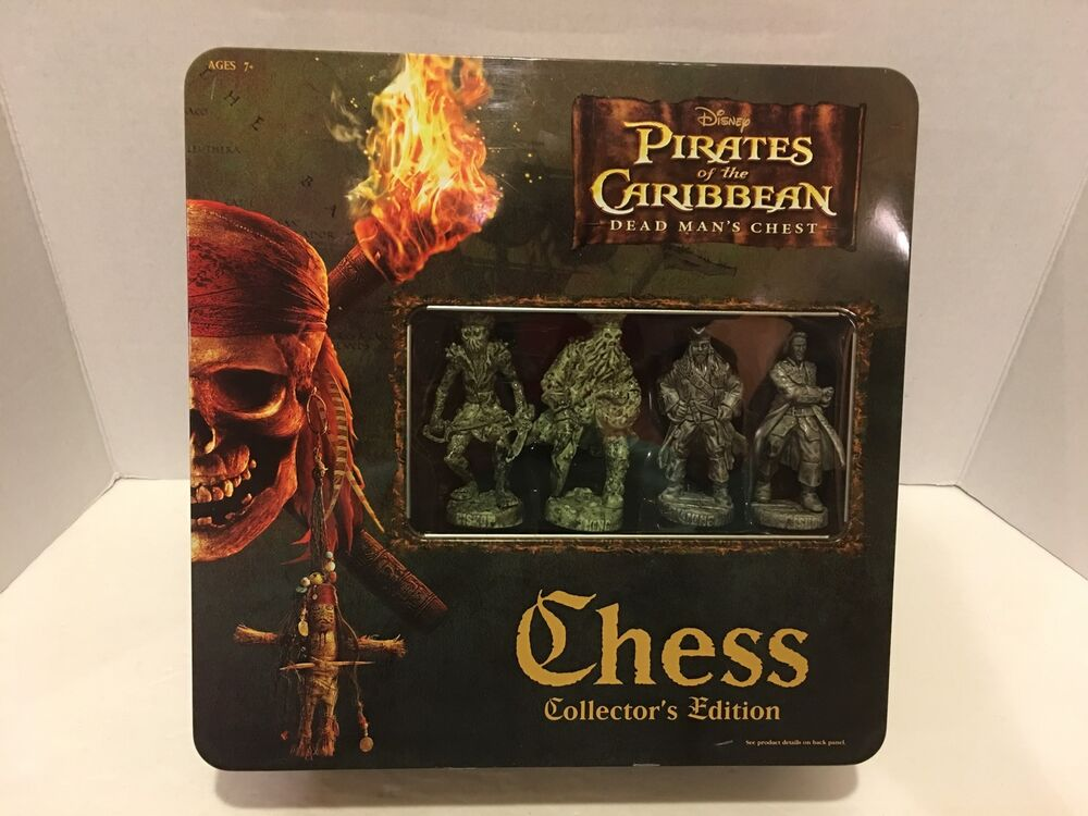 Pirates Of The Caribbean Chess Dead Man 39 S Chest Set Collector Edition Ebay