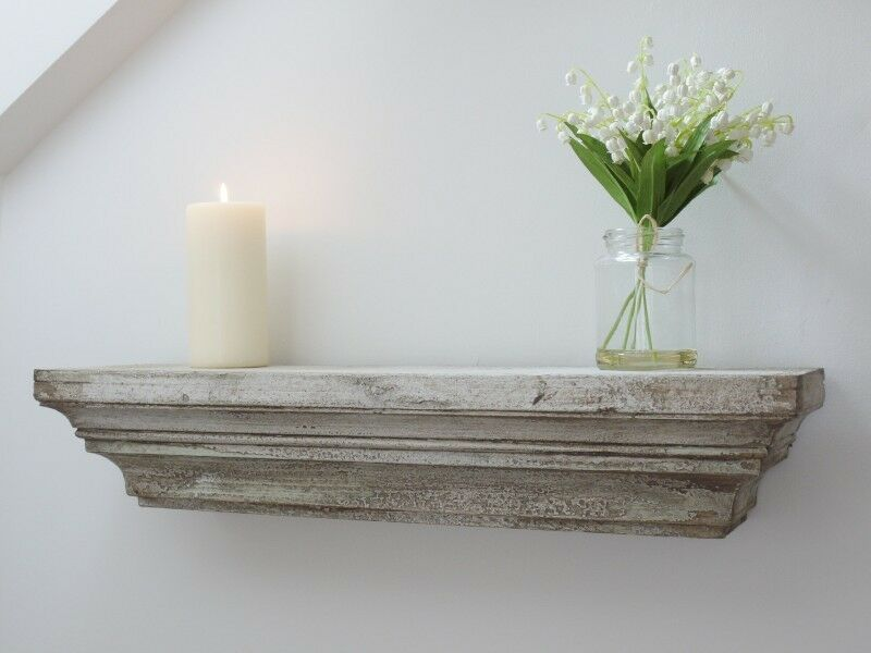 Shabby Chic Vintage Style Floating Wall Shelf Display