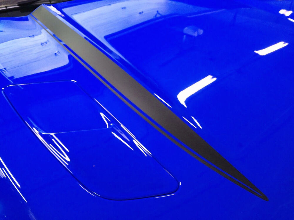 Mustang Decals And Stripes >> 2015 2016 2017 Ford Mustang Hood Spears Cowl Stripes Vinyl Decal Graphics V2 | eBay