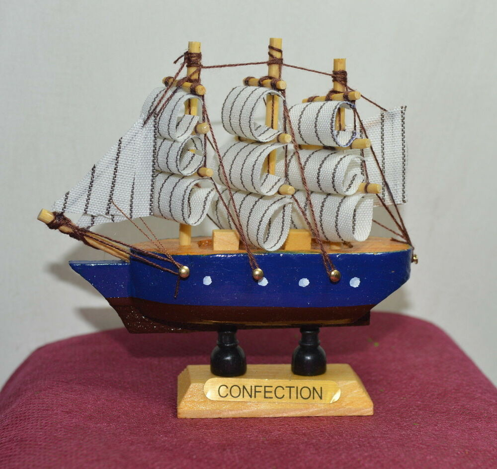 New vintage nautical wooden wood ship sailboat boat home for Ship decor home