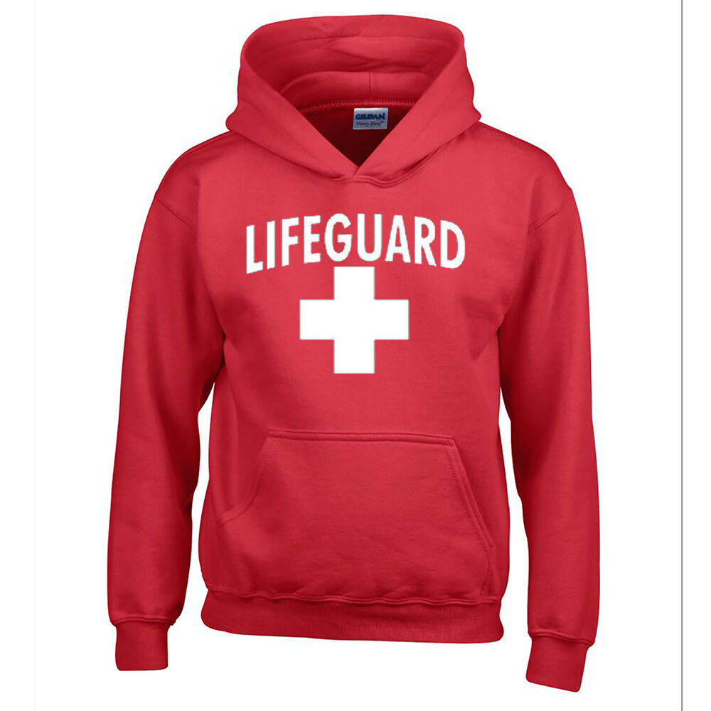 LIFEGUARD HOODIE WHITE LOGO BEACH SWEATSHIRT CALIFORNIA BEACHES LIFE GUARD | eBay