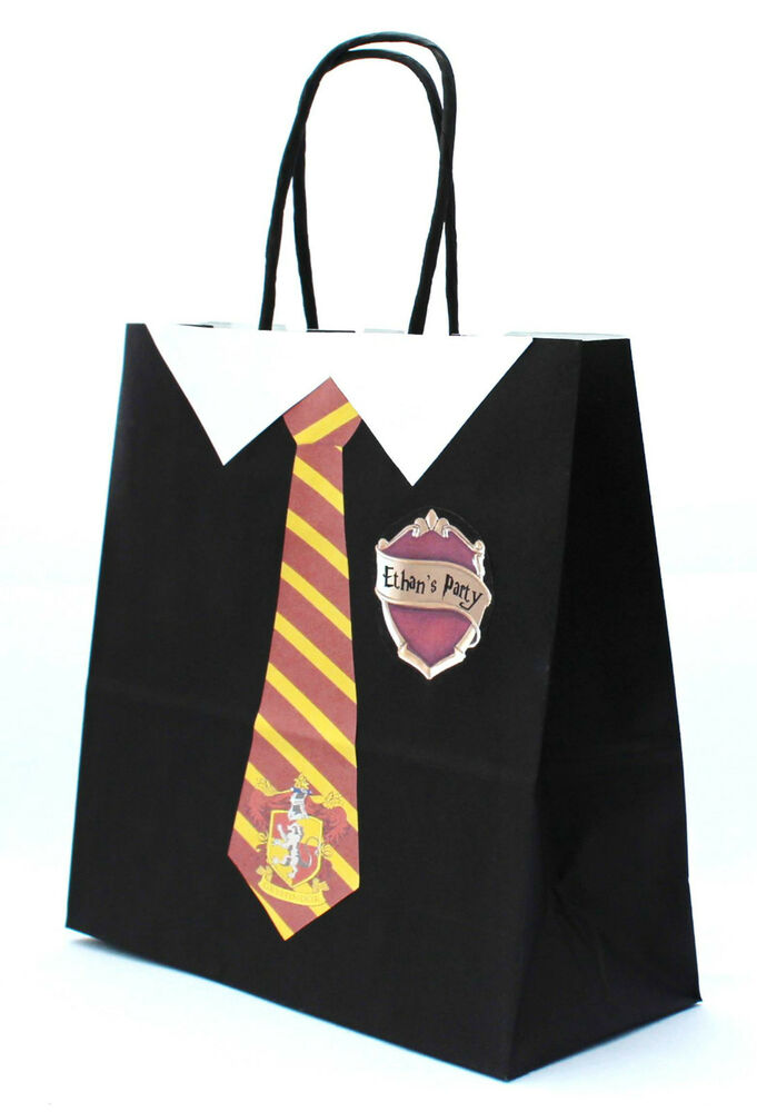 Pack Of 5 Personalised Harry Potter Party Gift Bags