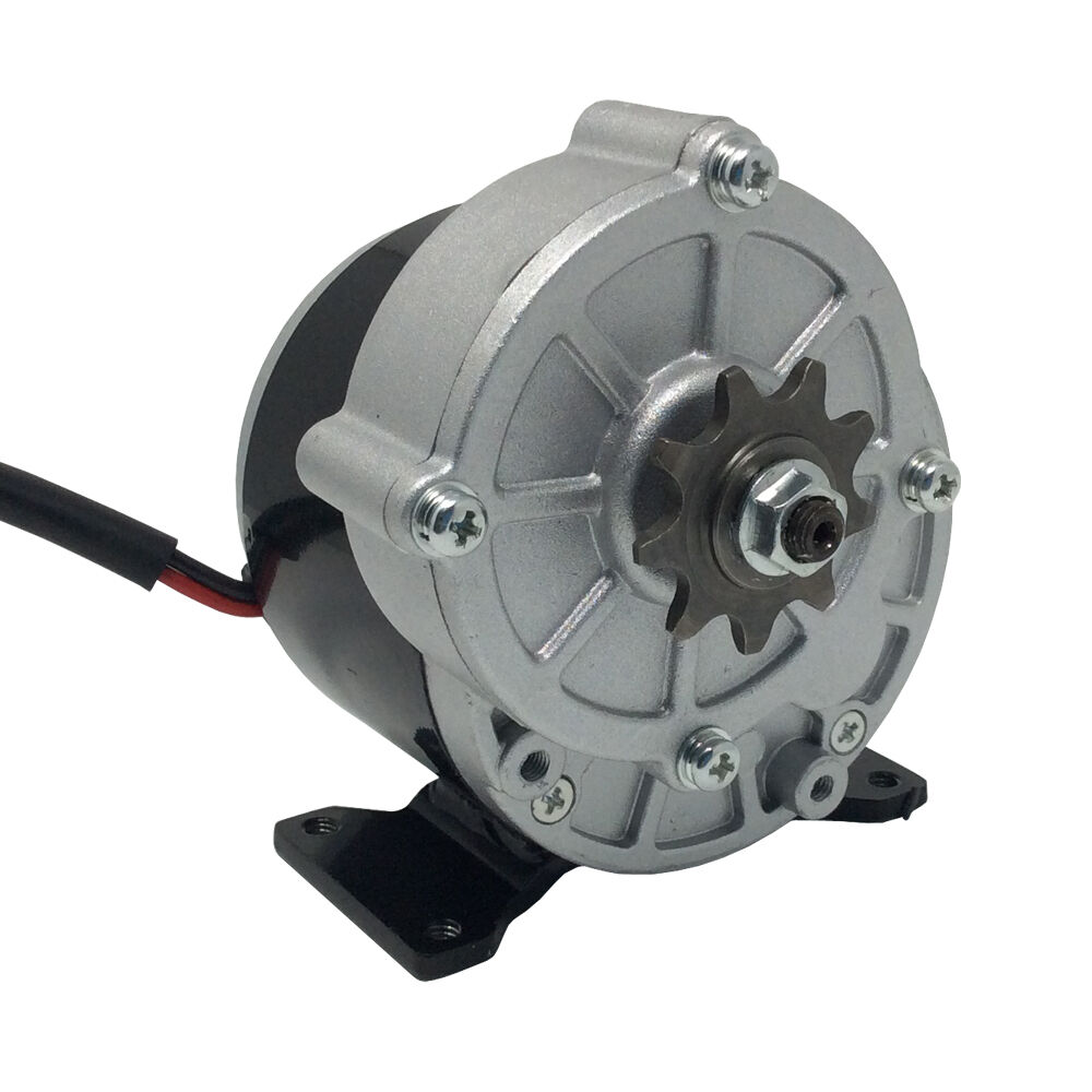 my1016z3 dc gear motor 24v 350 watt brushed motor with 9 teeth sprocket for bike ebay. Black Bedroom Furniture Sets. Home Design Ideas