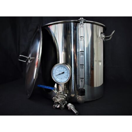 img-33ltr stainless steel stockpot tap temperature gauge sight glass mash tun kettle