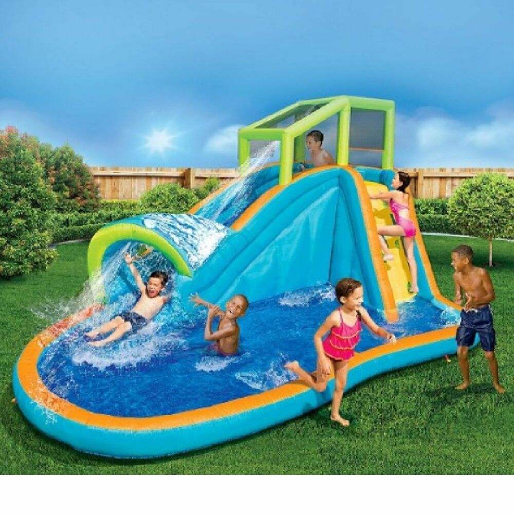 banzai pipeline water park inflatable water slide ebay