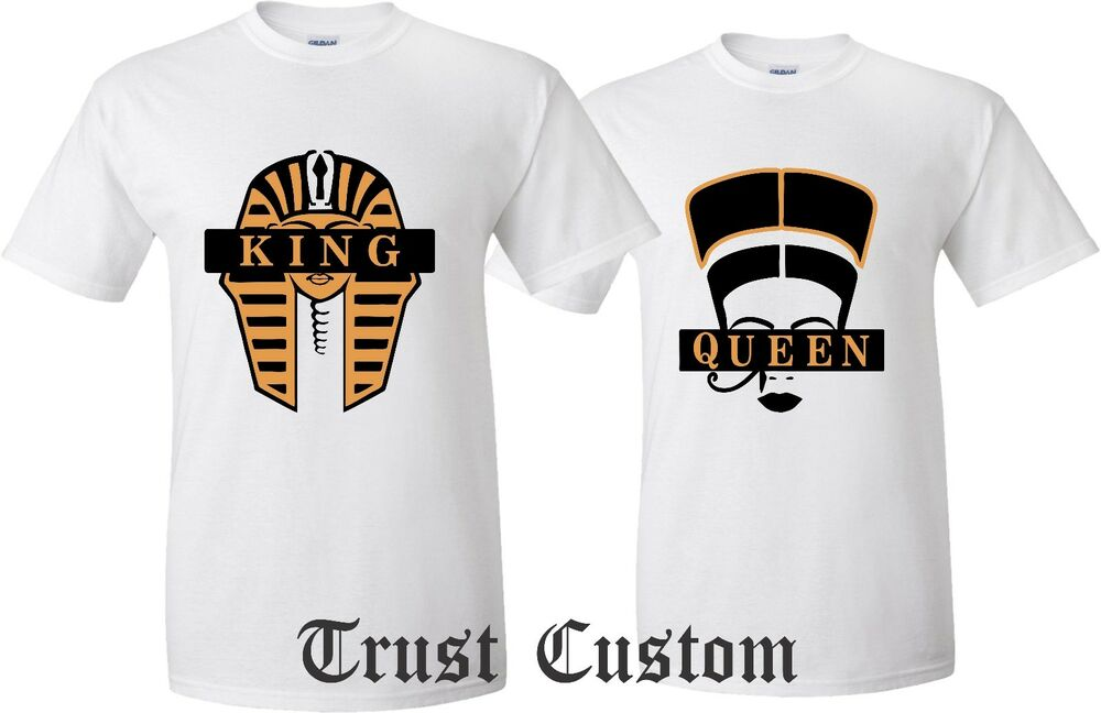 Couple matching love t shirts king and queen his and for Custom car club shirts