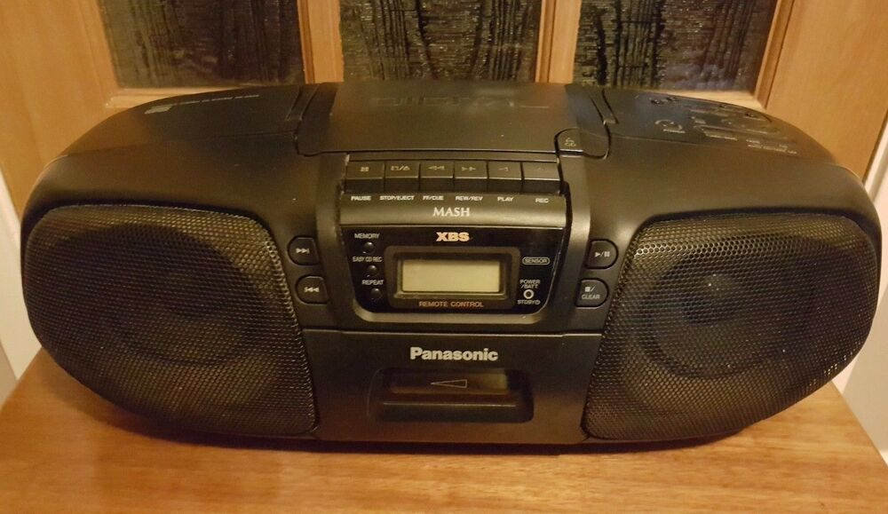 panasonic rx ds25 portable stereo cd system tape cassette. Black Bedroom Furniture Sets. Home Design Ideas
