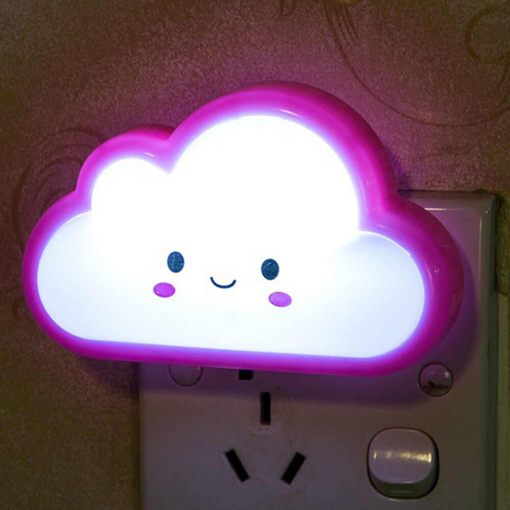 Cute Bedroom Cute Smile Face Cloud LED Lamps Kids Baby