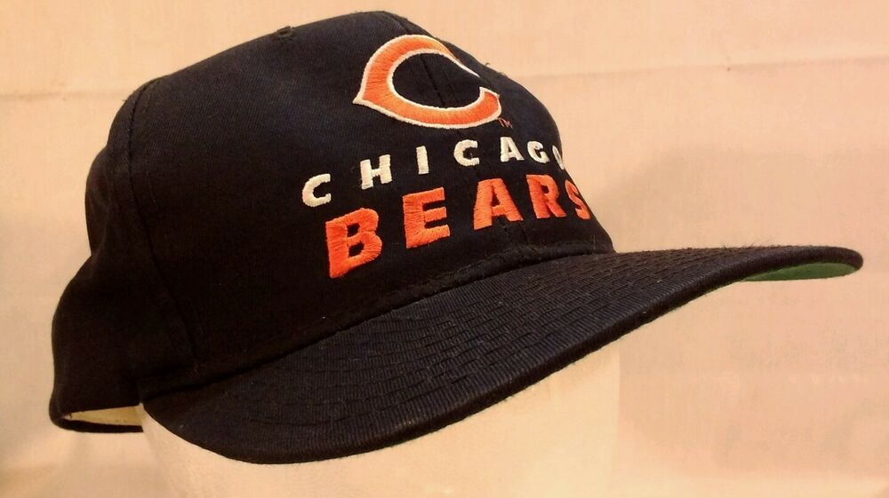 Details about Rare VINTAGE NFL Chicago Bears Snap Back Hat New Era Pro Model 772b8a1cfaf0