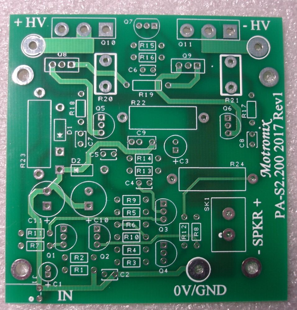 Power Amplifier Diy 100w 1xpcb Board Class Ab With To 3p Or 247 How Build Symmetrical A Preamplifier Ebay