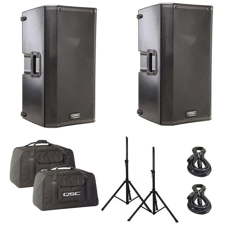 qsc k12 12 2 way active 1000 watt 1000w powered speaker. Black Bedroom Furniture Sets. Home Design Ideas