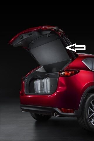2017 2018 mazda cx 5 retractable cargo cover kb7wv1350 ebay. Black Bedroom Furniture Sets. Home Design Ideas