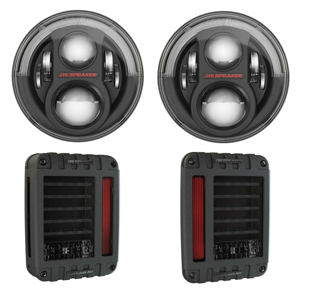 Jw Speaker Lights : Jw speaker led j series headlight tail lights in black