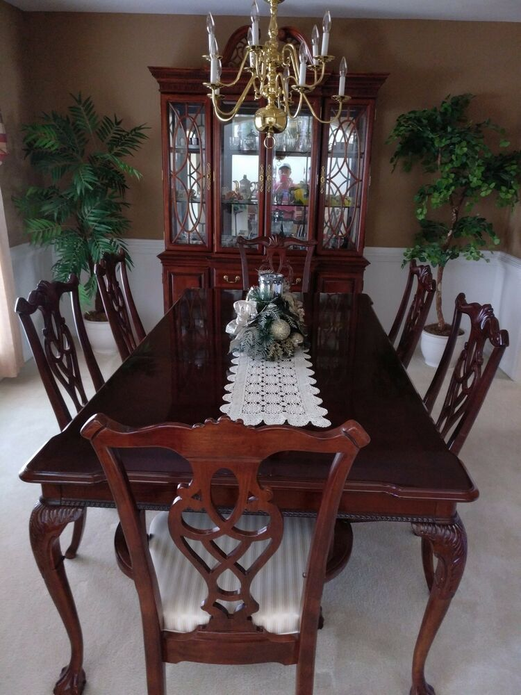 8 piece dining room set incl table 6 chairs china for Jardin 8 piece dining set