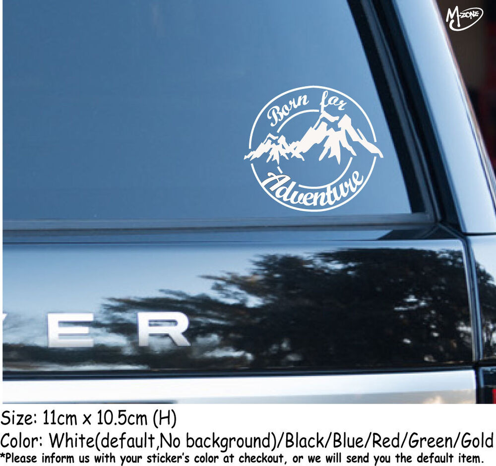Details about mountain hiking stickers born for adventure reflective car decals best gifts