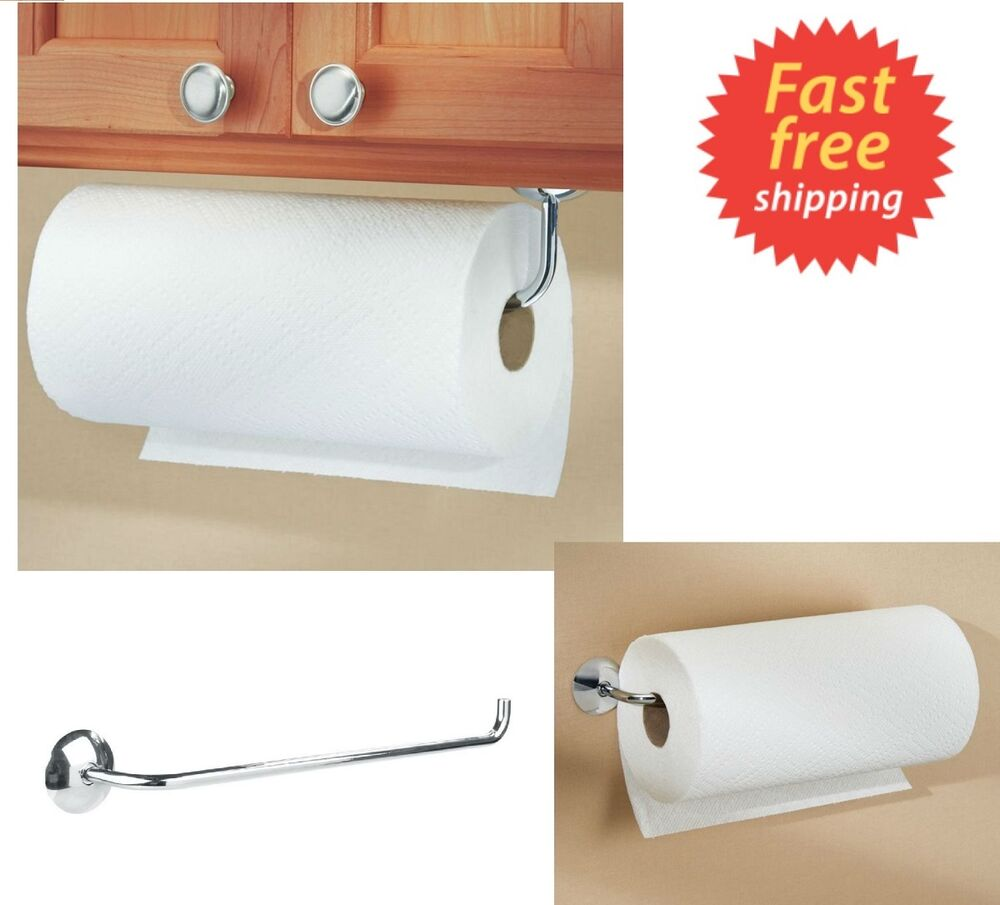 Kitchen Paper Towel Roll Holder Wall Mount Under Cabinet