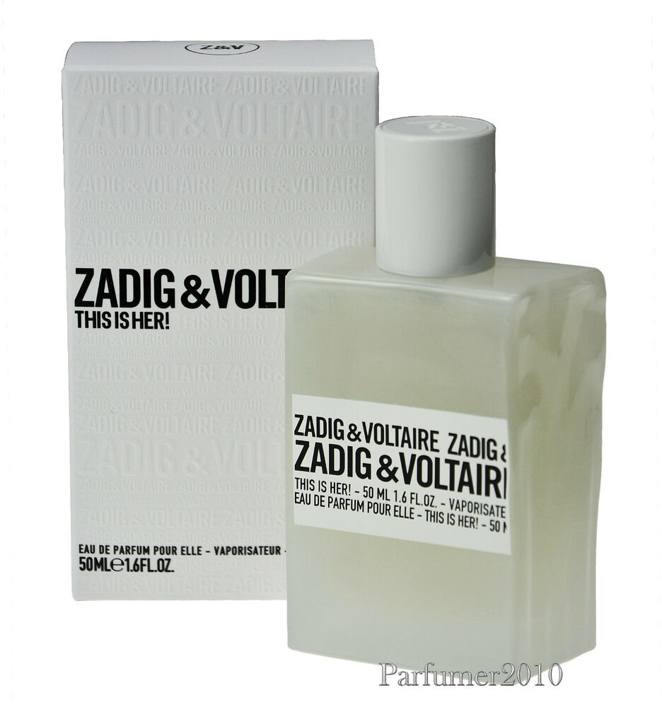 zadig voltaire this is her 50ml eau de parfum edp neu originalverpackt ebay. Black Bedroom Furniture Sets. Home Design Ideas