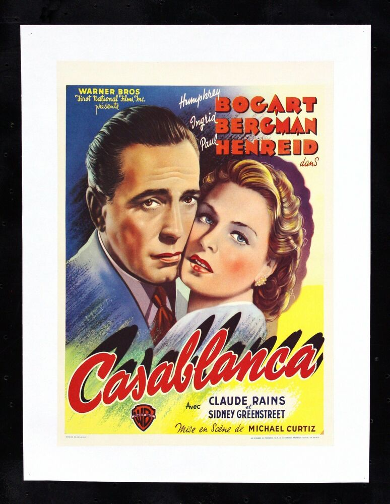 CASABLANCA CineMasterpieces BELGIUM ORIGINAL VINTAGE MOVIE ...
