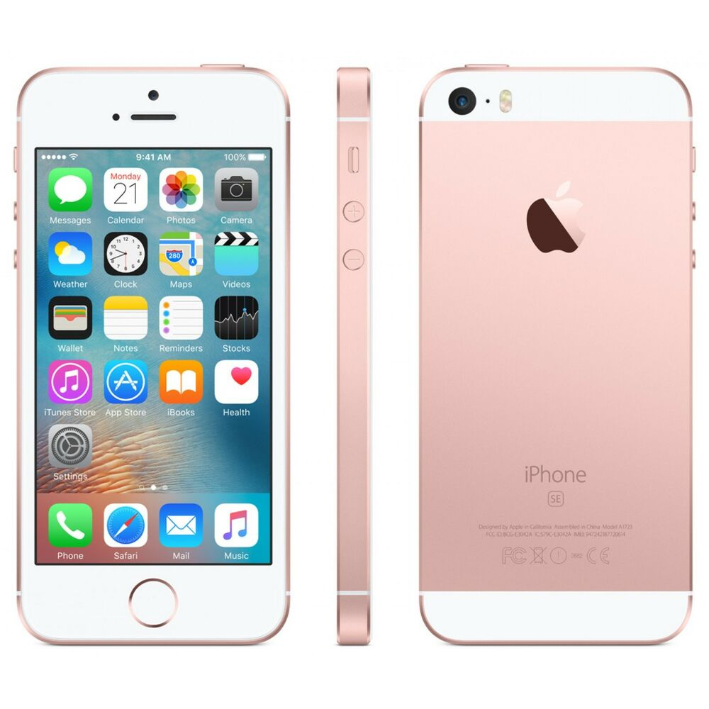 new apple iphone se 64gb t mobile locked rose gold smartphone ebay. Black Bedroom Furniture Sets. Home Design Ideas
