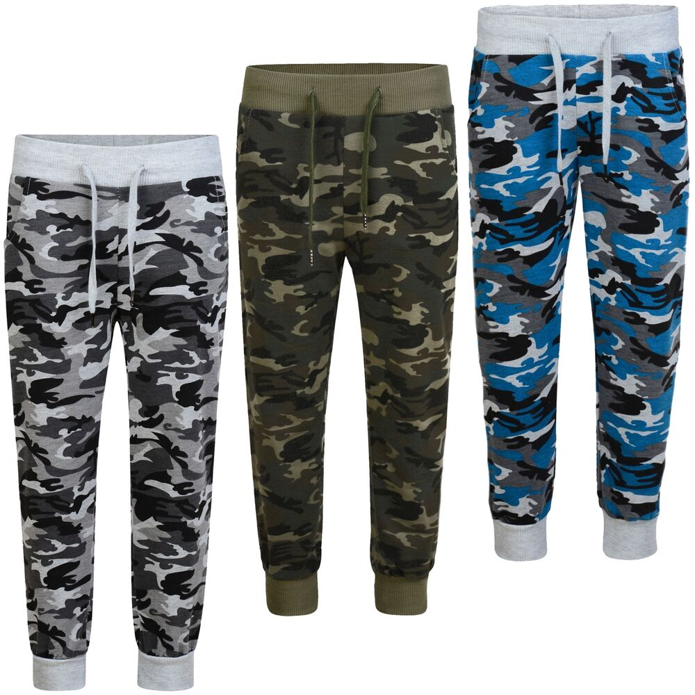 e61faf439 Details about Kids Teenagers Camouflage Tracksuit Bottoms Girls Boys  Jogging Sweatpants 3-14 Y