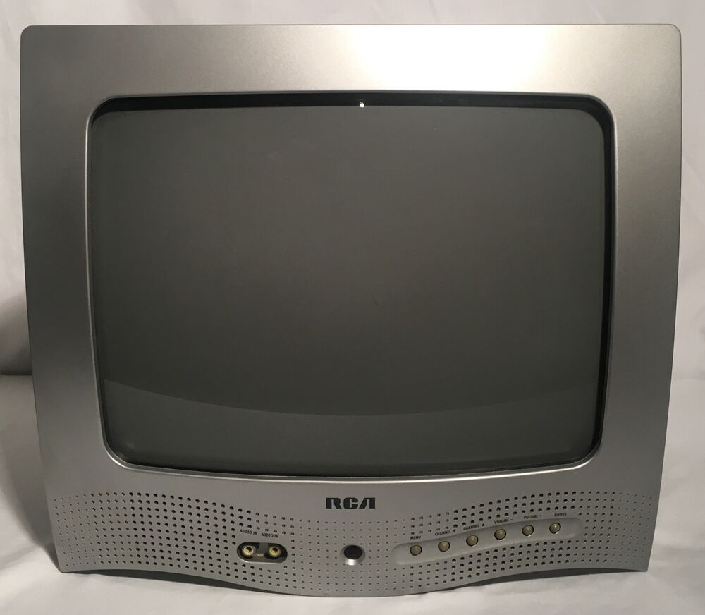 "Vintage 2003 RCA E13320 13"" CRT Color TV Working Retro"