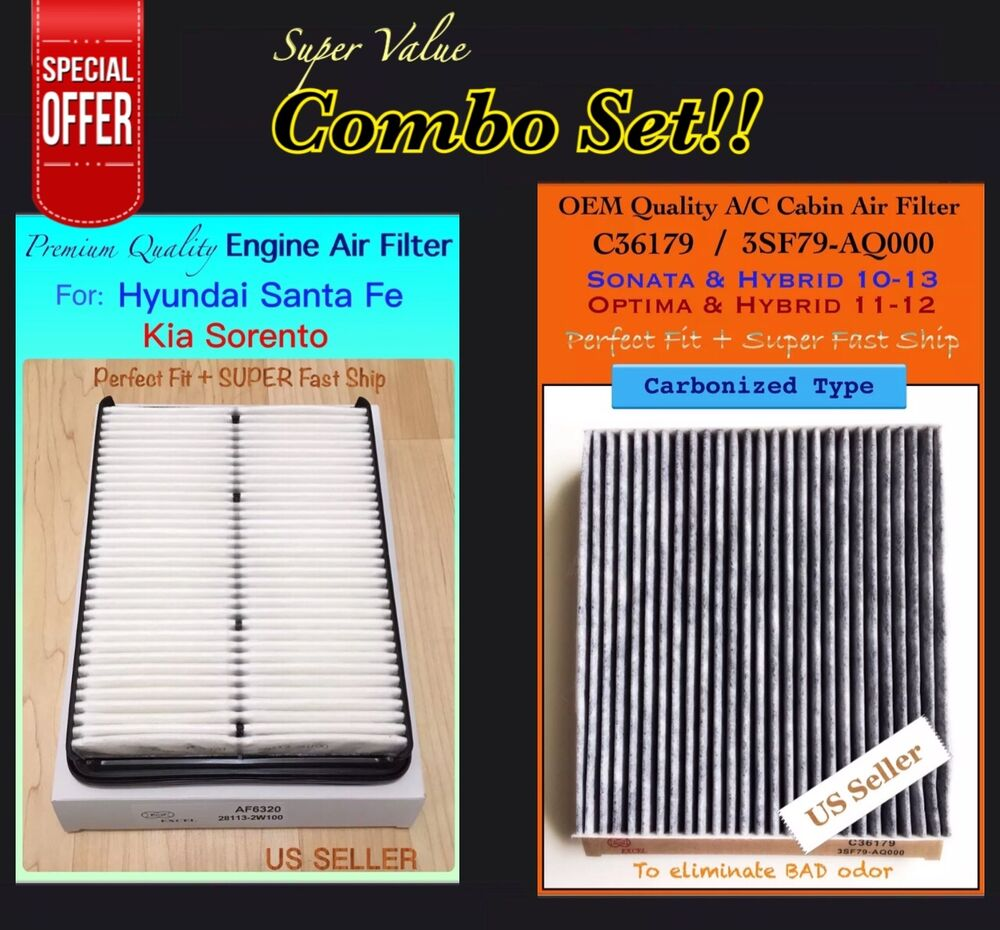 Engine Air Cleaner 15 : Engine carbonized cabin air filter for  hyundai
