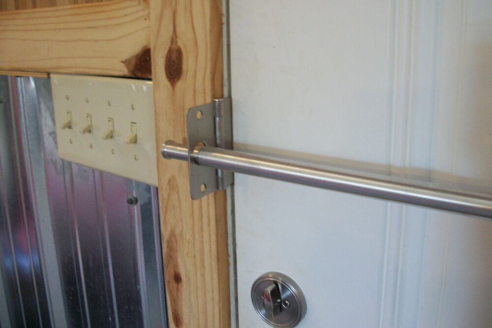 See Safe Home Security Solid Door Bar Lock System New In