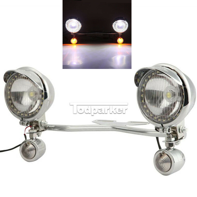 Chrome Motorcycle Driving Passing Bullet Led Turn Signal