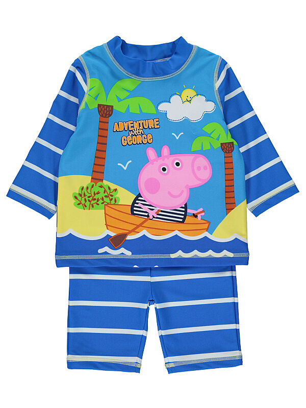 be4a98991c733 Boys UV Protection Surfsuit. *** Brand New with Tags ***. • 2 piece set •  Tropical Peppa Pig George design