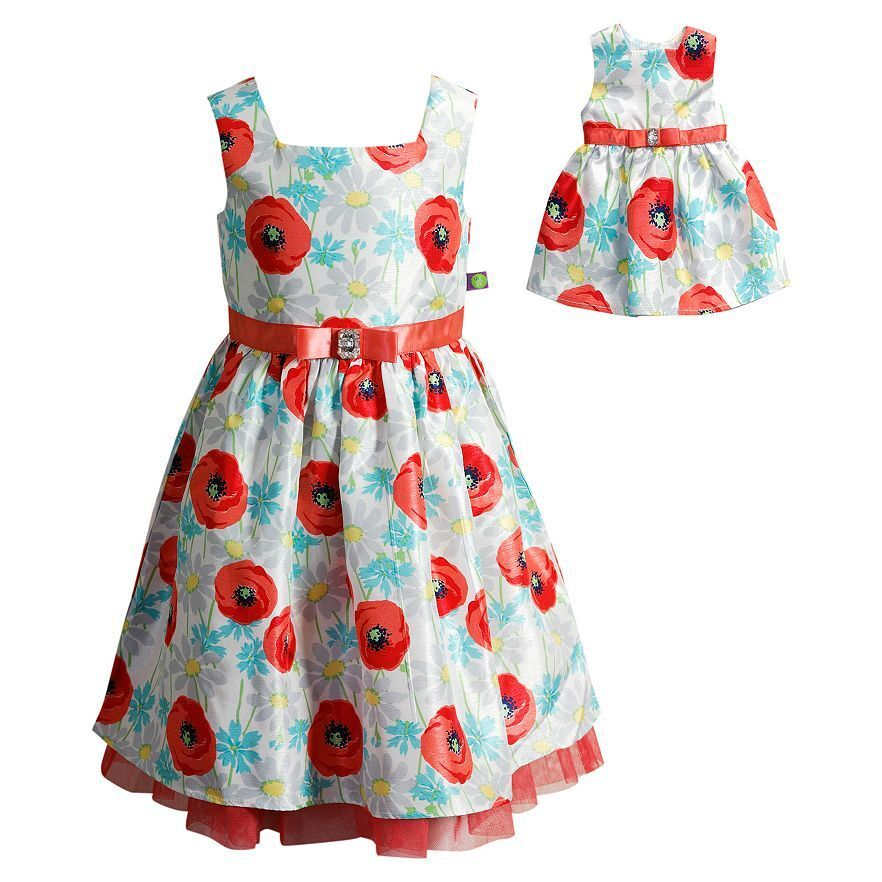 49d83076d4b34 Details about Girl and Doll Matching Fancy Party Easter Dress Outfit Clothes  American Girl