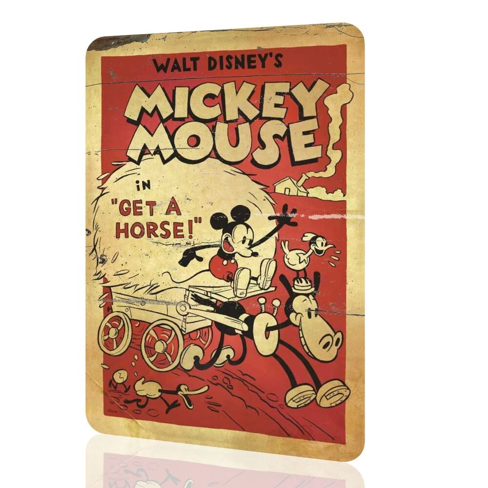 METAL SIGN MICKEY MOUSE Disney Decor Classic Poster Wall