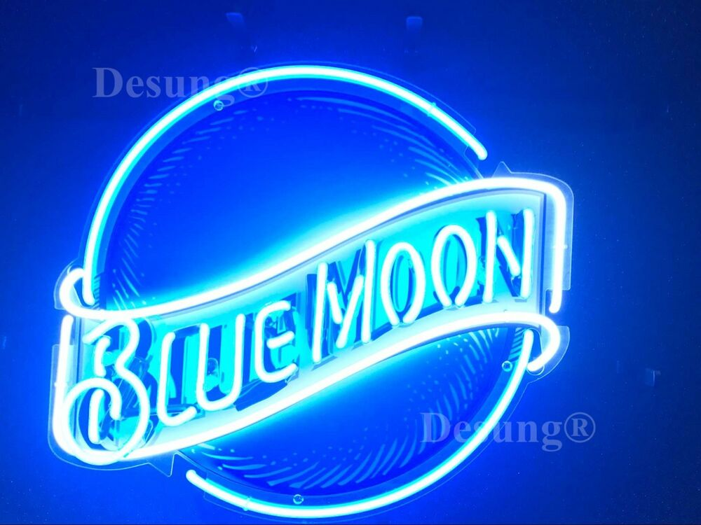 New Blue Moon Beer Bar Pub Neon Sign 19 Quot With Hd Vivid