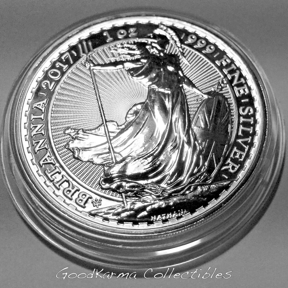 2017 Great Britain Uk Britannia 999 Silver Coin 20th