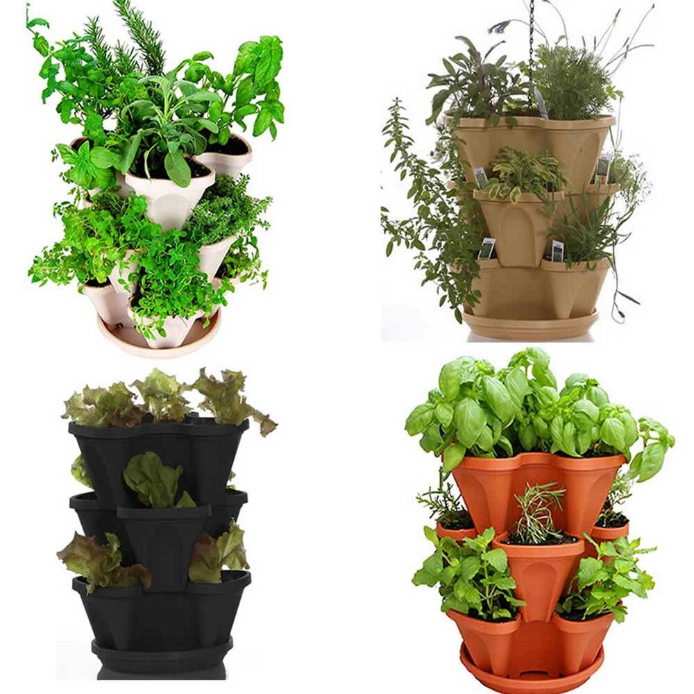 Stackable Hanging Garden Planter Flower Pot Indoor Outdoor